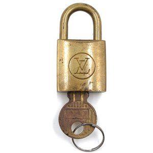Louis Vuitton Gold Keepall Speedy Lock Key Set#218